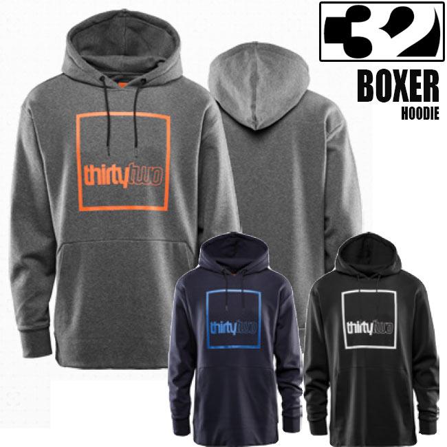 サーティーツー パーカー THIRTYTWO BOXER ボクサー フリース 32 19-20モデル メンズ レディース