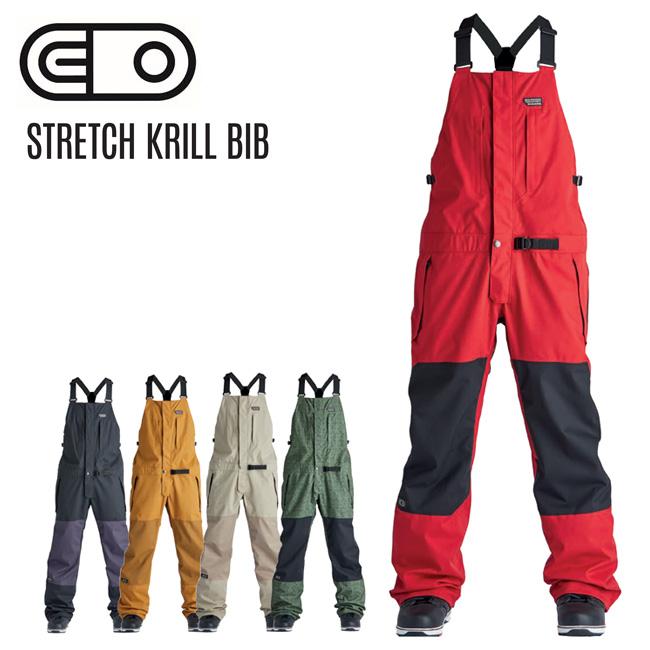 20-21モデル AIRBLASTER メンズ エアブラスター Stretch Krill Bib 20-21 クリル ビブパンツ ストレッチ スノーボード お値打ち価格で 内祝い ウェア ビブ つなぎ
