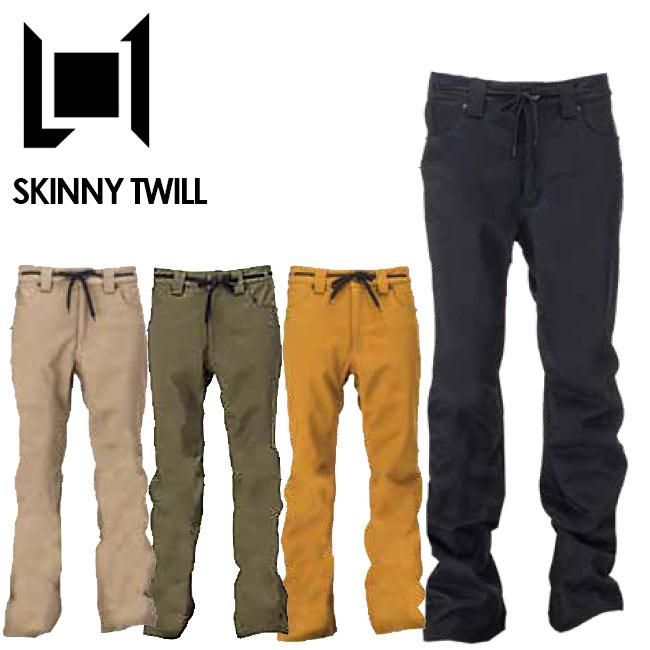 予約 エルワン パンツ L1 SKINNY TWILL PANT スキニーツイルパンツ 19-20 スノボー ウェア メンズ スノーボード ウェアー スノボ【店頭受取対応商品】