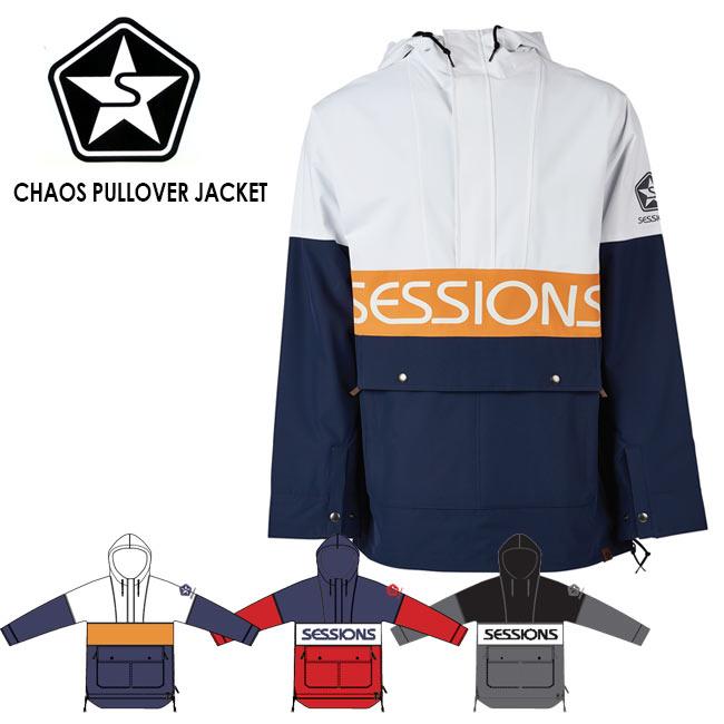 予約 セッションズ ジャケット SESSIONS CHAOS PULLOVER JACKET 19-20モデル プルオーバー アウター スノーボード ウェアー スノボ