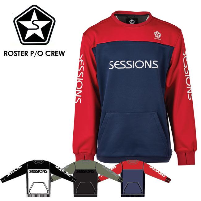 予約 セッションズ トレーナー SESSIONS ROSTER P/O CREW 19-20モデル スエット アウター スノーボード ウェアー スノボ
