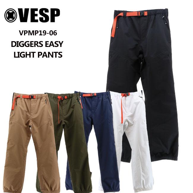 予約 べスプ 19-20モデル VESP DIGGERS EASY LIGHT PANTS (VPMP19-06) パンツ スノーボード ウェアー スノボーウェア【店頭受取対応商品】