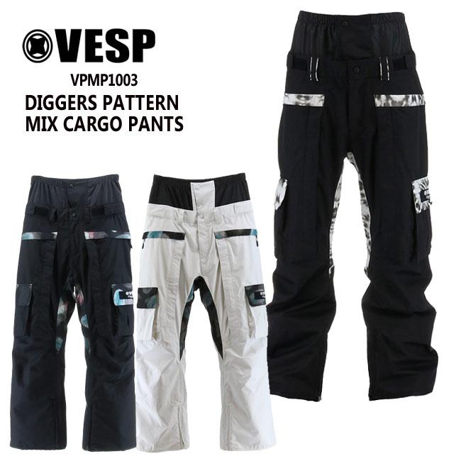 予約 べスプ VESP DIGGERS PATTERN MIX CARGO PANTS (VPMP1003) 20-21 パンツ スノーボード ウェアー スノボーウェア メンズ レディース