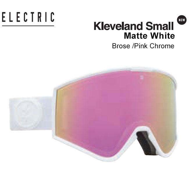 国内正規品 アジアフィット ASIAN FIT レディースにも 予約 ゴーグル エレクトリック 再販ご予約限定送料無料 ELECTRIC KLEVELAND SMALL JAPAN クリーブランド エレク スキー 返品不可 20-21 スノボ MATTE WHITE