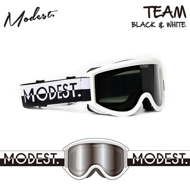 ゴーグル モデスト MODEST GOGGLE TEAM BLACK&WHITE 18-19 スノーボード GOGGLE【店頭受取対応商品】