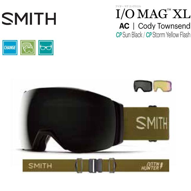 ゴーグル スミス SMITH I/O MAG XL / AC | CODY TOWNSEND / CHROMAPOP LENS JAPAN FIT 19-20 アジアンフィット スノーボード スキー【店頭受取対応商品】