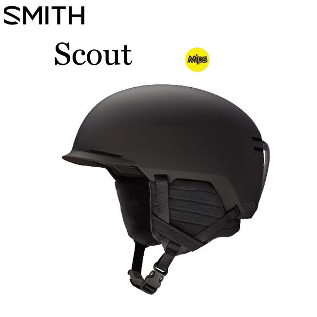 ヘルメット スミス スカウト SMITH SCOUT MIPS MATTE BLACK 国内正規品 19-20 スノーボード用 スキー用 SKI プロテクター メンズ レディース