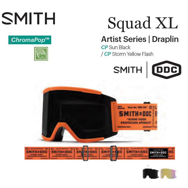 予約 アーリー限定 ゴーグル スミス SMITH SQUAD XL / DRAPLIN 20-21 JAPAN FIT アジアンフィット スノーボード スキー