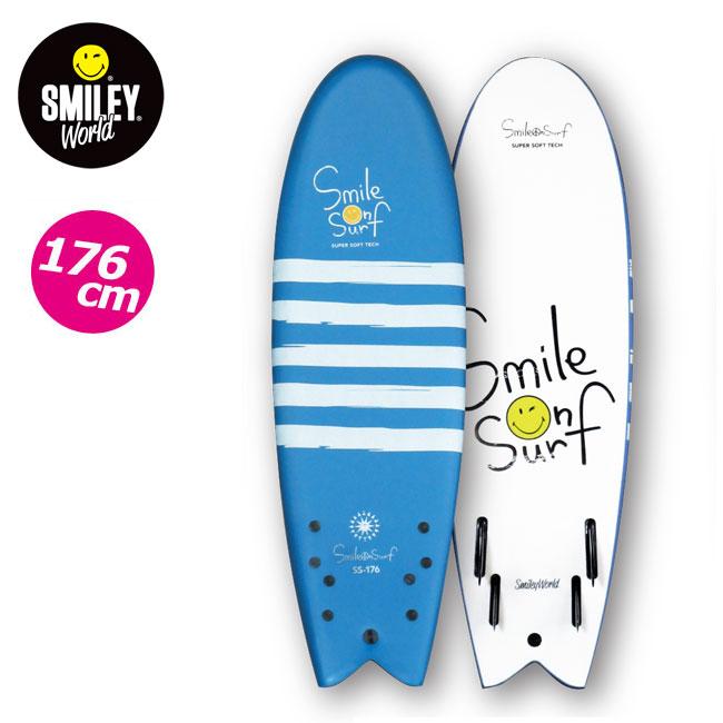 ジュニア用 ソフトボード SMILEY WORLD 176cm スマイルオンサーフ ファンボード SMILE ON SURF KIDS用 SURFBOARD スポンジボード サーフィン【店頭受取対応商品】【SUMMER SALE】