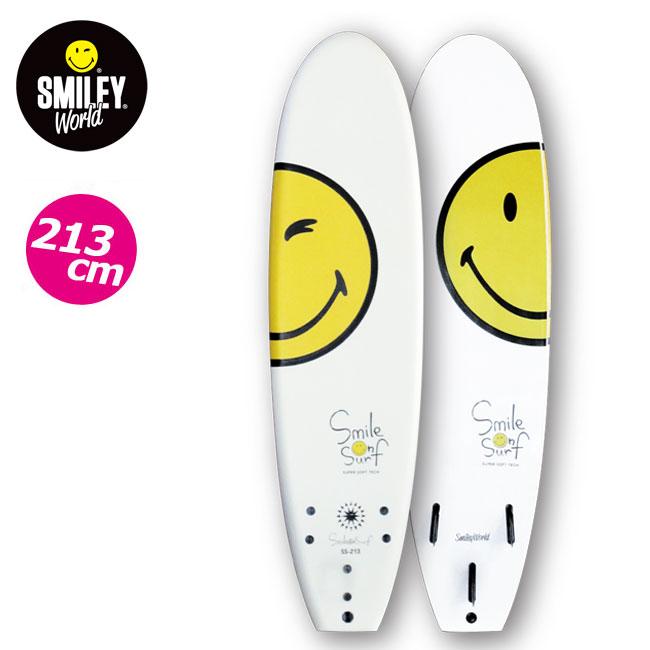 ジュニア用 ソフトボード SMILEY WORLD 213cm スマイルオンサーフ ファンボード SMILE ON SURF KIDS用 SURFBOARD スポンジボード サーフィン【店頭受取対応商品】