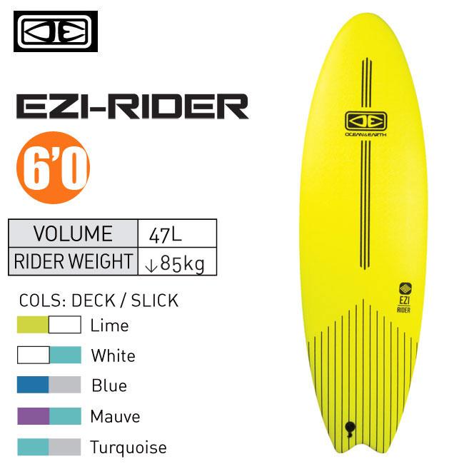 ソフトボード OCEAN&EARTH EZI -RIDER 6'0 サーフボード サーフィン KIDS用 子供用 スポンジボード【店頭受取対応商品】