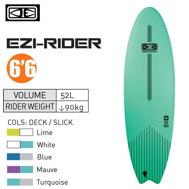 ソフトボード OCEAN&EARTH EZI -RIDER 6'6 サーフボード サーフィン 初心者用 ビギナー スポンジボード