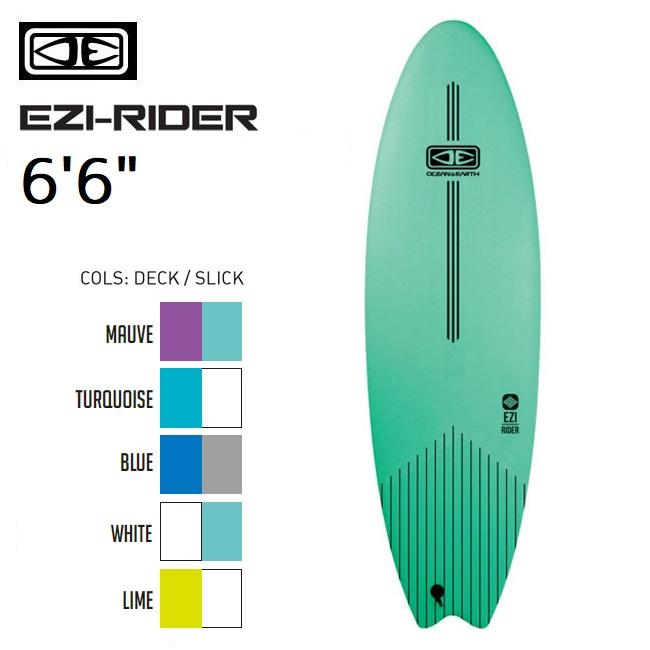 ソフトボード OCEAN&EARTH EZI-RIDER 6'6 サーフボード サーフィン スポンジボード ショートボード