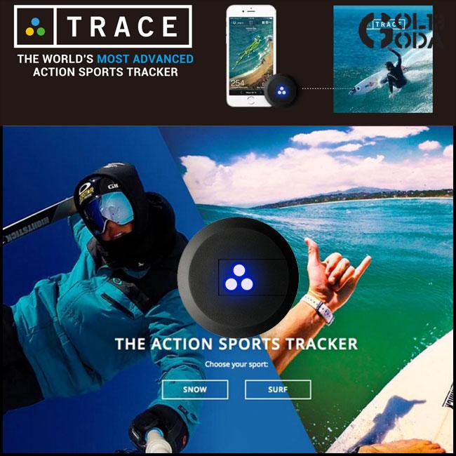 【小型GPSセンサー】TRACE トレース データ計測 ライディング追跡 GoPro自動編集 サーフィン スノーボード【店頭受取対応商品】