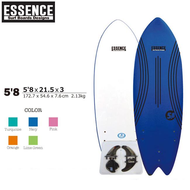 ソフトボード サーフィン ESSENCE SOFT BOARDS 5'8 サーフボード ショートボード スポンジボード 子供用 板【店頭受取対応商品】