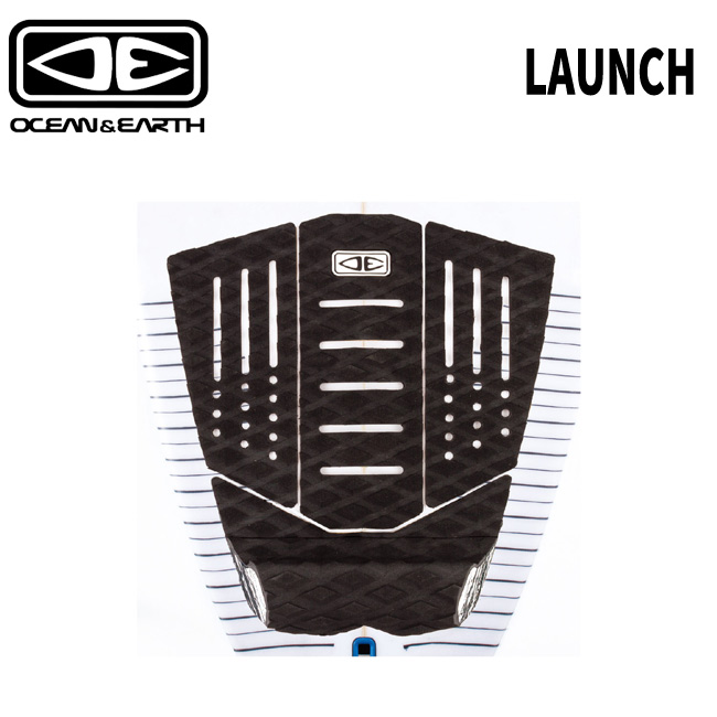 オーシャンアース ショートボード用 デッキパッド OCEANEARTH LAUNCH 4 PIECE TAIL 受賞店 デッキパッチ サーフボード 卸直営 ショートボード PAD