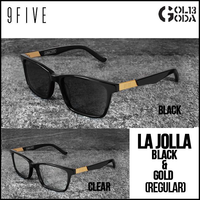 サングラス 9FIVE LA JOLLA BLACK&GOLD (Reg) ナインファイブ スケート 眼鏡 メガネ【店頭受取対応商品】