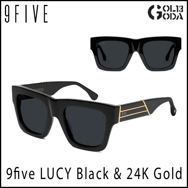 サングラス 9five LUCY Black & 24K Gold Shades ナインファイブ/スケート HIP HOP界やNBAからも支持