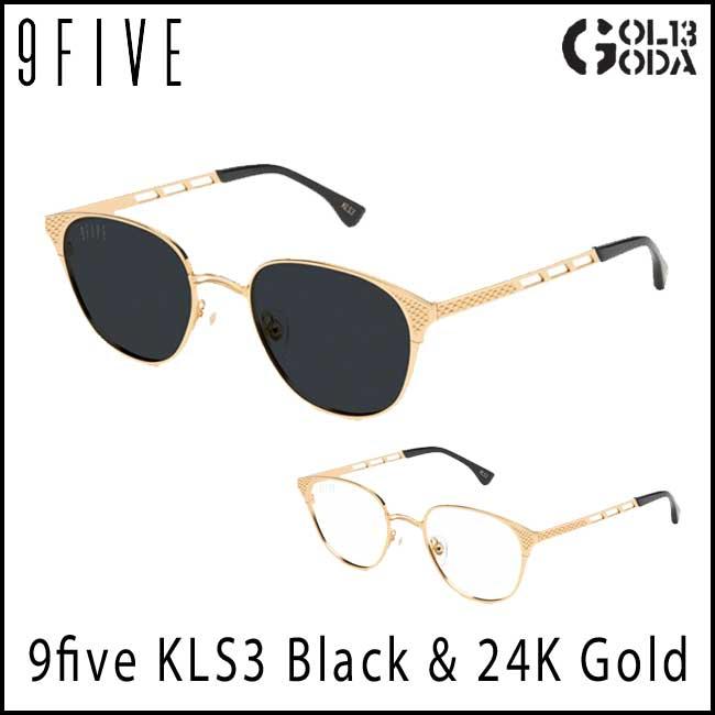 サングラス 9five KLS3 Black & 24K Gold Shades ナインファイブ/スケート HIP HOP界やNBAからも支持