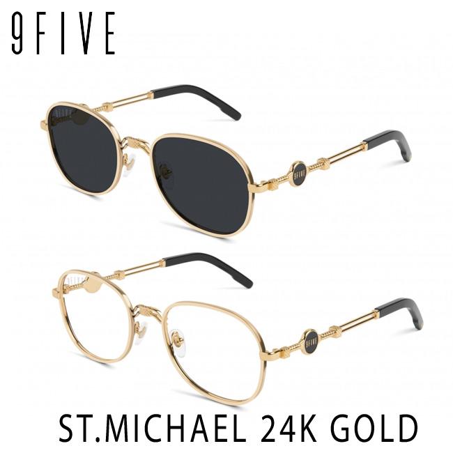 サングラス 9FIVE ST.MICHAEL 24K Gold セントマイケル ナインファイブ/スケート HIP HOP界やNBAからも支持【店頭受取対応商品】