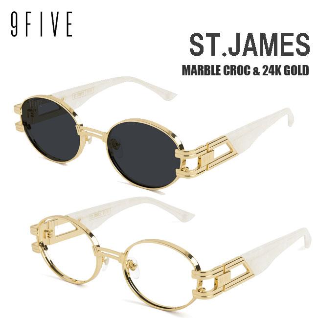 サングラス 9FIVE ST. James MARBLE CROC & 24K GOLD ナインファイブ/スケート HIP HOP界やNBAからも支持【店頭受取対応商品】