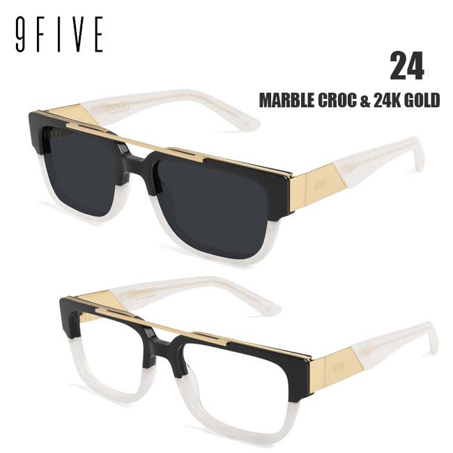 サングラス 9FIVE 24 Marble Croc & 24K Gold ナインファイブ スケート HIP HOP界やNBAからも支持