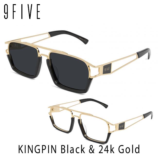 サングラス ナインファイブ 9five KINGPIN キングピン Black & 24K Gold スケート HIP HOP界やNBAからも支持【店頭受取対応商品】