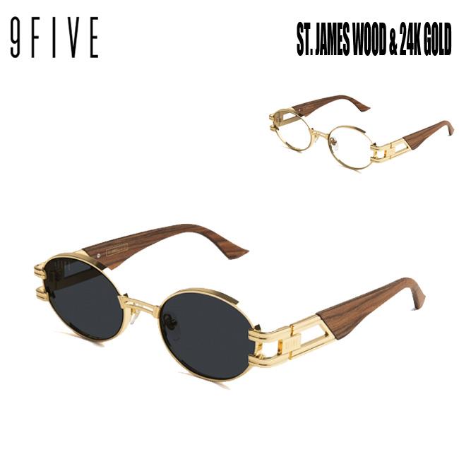 サングラス 9FIVE ST. James WOOD & 24K GOLD ナインファイブ/スケート HIP HOP界やNBAからも支持【店頭受取対応商品】