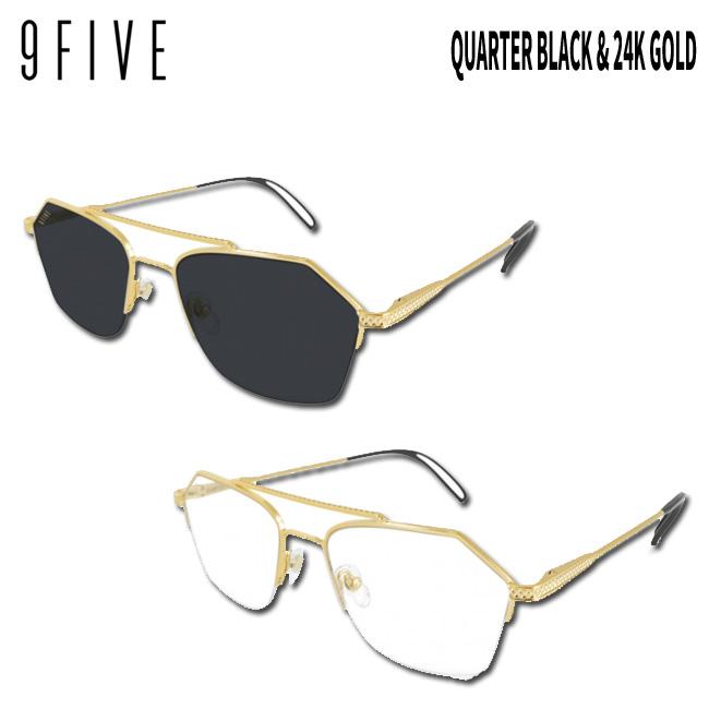 サングラス 9five QUARTER Black & 24k Gold ナインファイブ/スケート HIP HOP界やNBAからも支持【店頭受取対応商品】