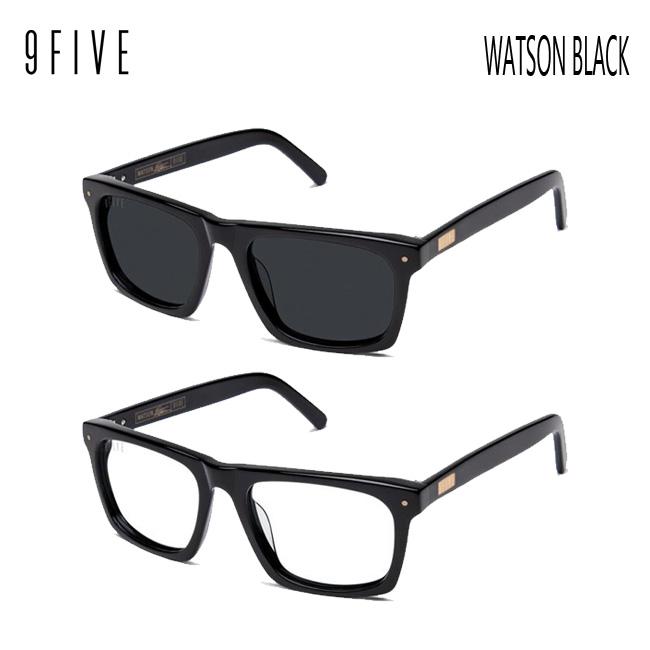 サングラス 9FIVE WATSON BLACK ナインファイブ/スケート HIP HOP界やNBAからも支持【店頭受取対応商品】