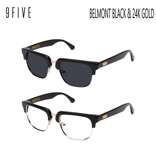 サングラス 9FIVE BELMONT BLACK & 24k GOLD ナインファイブ/スケート/眼鏡/メガネ【店頭受取対応商品】
