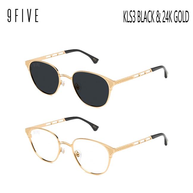 サングラス 9five KLS3 Black & 24K Gold Shades ナインファイブ/スケート HIP HOP界やNBAからも支持【店頭受取対応商品】