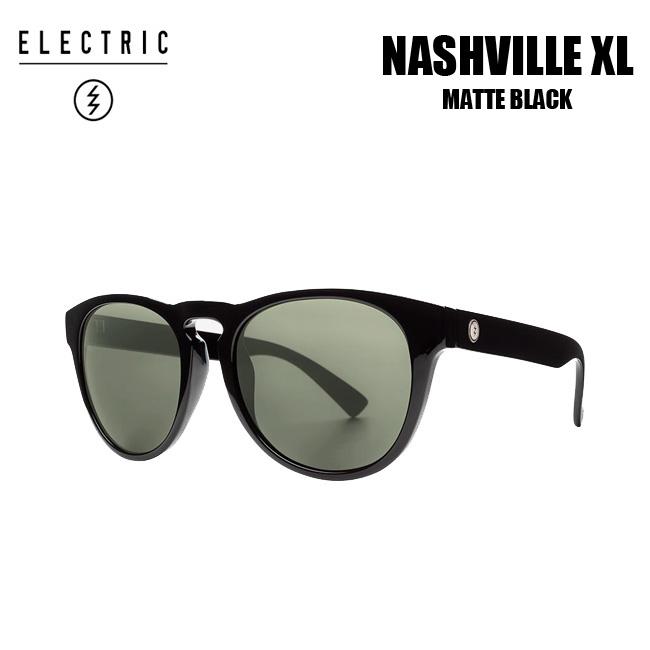 エレクトリック サングラス ELECTRIC NASHVILLE XL GLOSS BLACK/M.GREY ナッシュビル Sライン【店頭受取対応商品】【18SS】