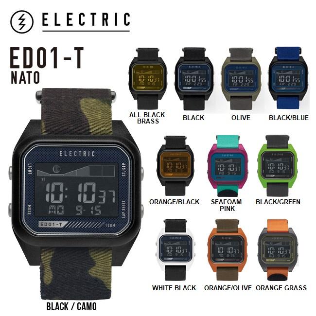 時計 ELECTRIC ED01-TN2 NATO エレクトリック デジタルウオッチ 腕時計 防水 TIDE タイドグラフ【店頭受取対応商品】
