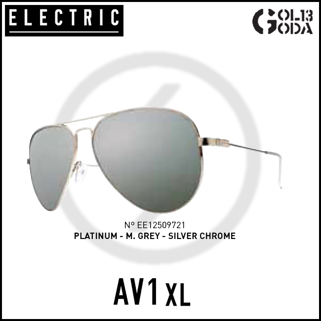 ELECTRIC AV1 XL AVX232 PLATINUM/M.GREY SILVER CHROME エレクトリック サングラス Sunglass サングラス electric サングラス Electric
