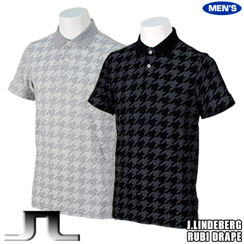 Jリンドバーグ ポロシャツ ルビ ドレープジャカード 52MG563055320