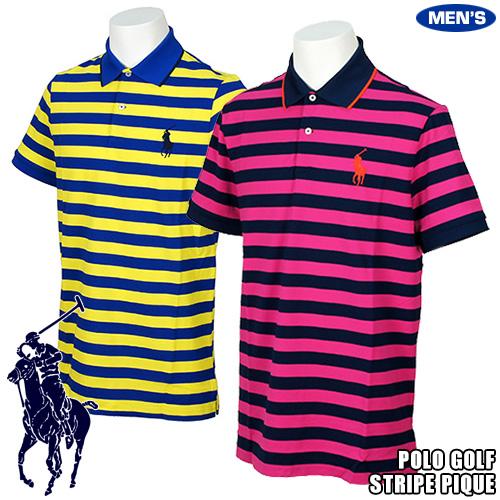 ポロゴルフ ビッグポニー ストライプパフォーマンス ポロシャツ