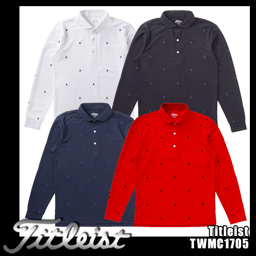 タイトリスト 長袖 総刺繍カノコ ワイドスプレッドシャツ TWMC1705