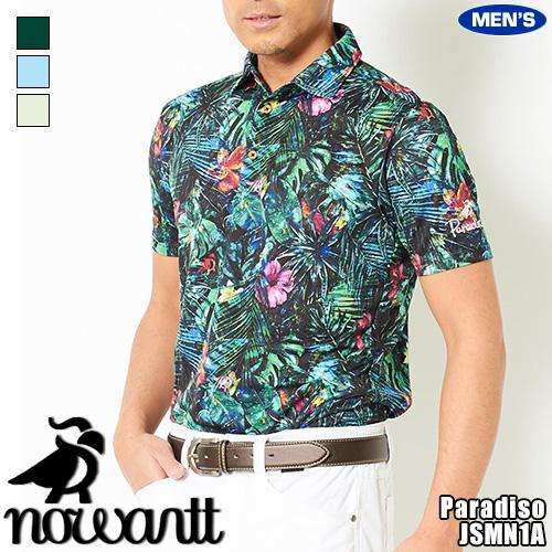 nowartt for PARADISO ノワート×パラディーゾ メンズ ノワート 半袖シャツ テキスタイルグラフィック JSMN1A