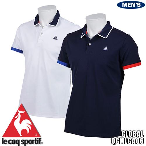 ルコック ゴルフ グローバルコレクション メンズ 半袖ポロシャツ パネルメッシュジャガード QGMLGA06