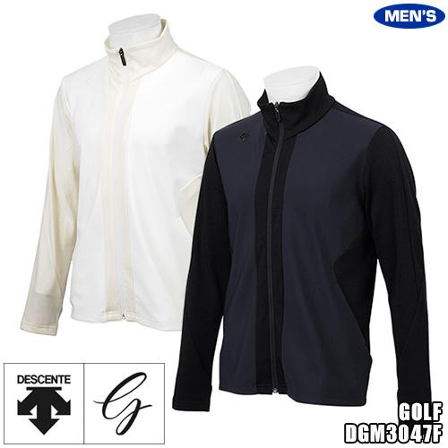 デサントゴルフ メンズ ハイブリッド ジャージージャケット ニット&ボンディング DGM3047F