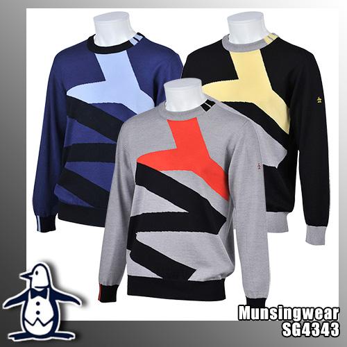 マンシング メンズ ウールセーター クルーネック SG4343