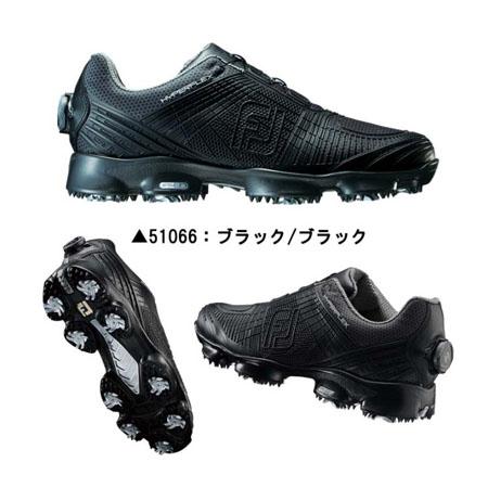 【新色追加!】フットジョイ ハイパーフレックス2Boa メンズゴルフシューズ オールブラック [51066]