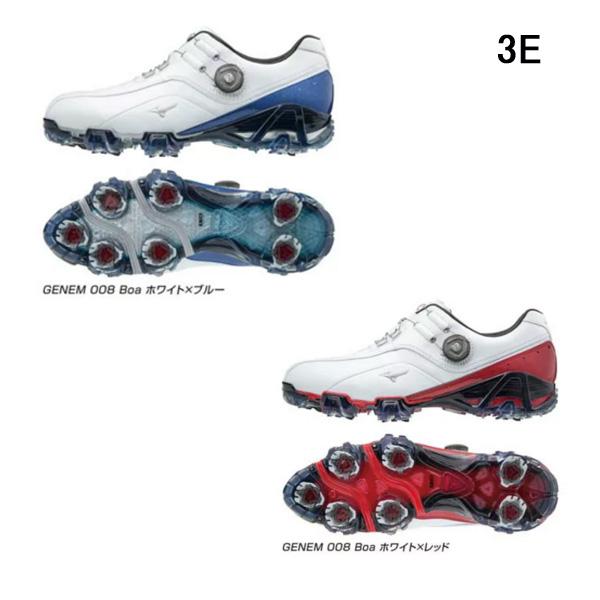 【2018年モデル】 ミズノ ジェネム008ボア ゴルフシューズ [3E] GENEM008 Boa [51GM1800]
