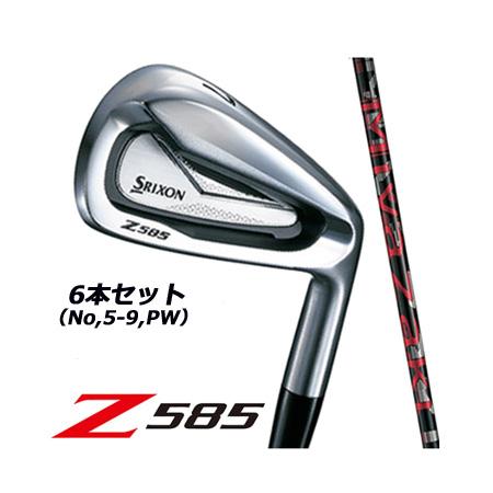 【2018年発売】スリクソン Z585 アイアン 6本セット(No5~9、PW) ミヤザキマハナ Miyazaki Mahana