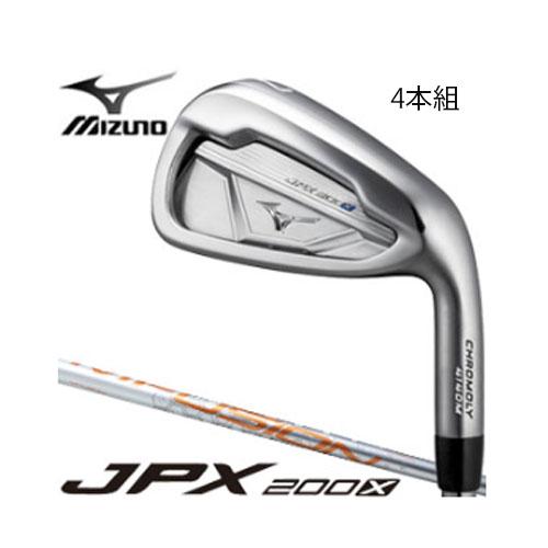 ミズノ ゴルフ JPX200X アイアン 4本組(No,7~9、PW) PLATINUM MFUSION i カーボンシャフト