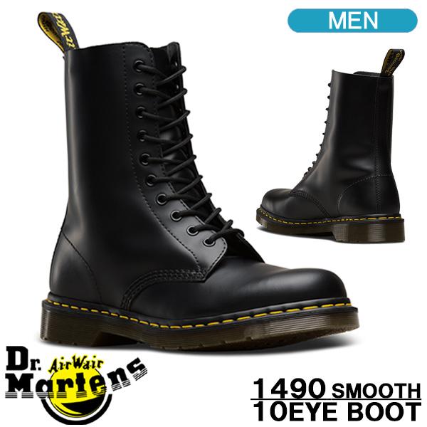 ドクターマーチン ブーツ Dr.Martens 1490 10EYE BOOT 10ホール ブラック メンズシューズ 11857001