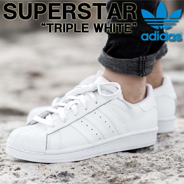 Classic sneakers Adidas originals adidas originals SUPERSTAR FOUNDATION superstar triple white men shoes B27136