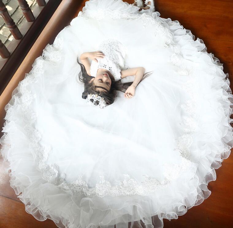 トレーン 子供ドレス 女の子 誕生日 ノースリーブ フォーマルワンピース 舞台 ピアノ ロング フォーマルドレス パーティードレス レース チュール キッズドレス 110cm-170cm