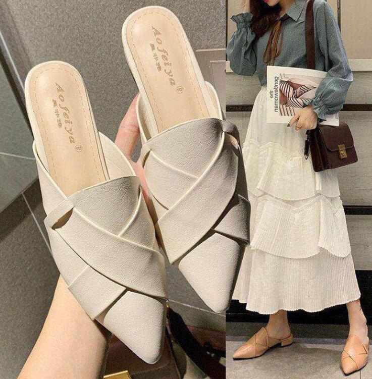 レディースサンダル 春夏 レディース靴 ミュール 3cmヒール ローヒールミュール サンダル 返品不可 レディース ポインテッドトゥ 日本産 パーティ 履きやすい 歩きやすい 靴 ぺたんこ 美脚